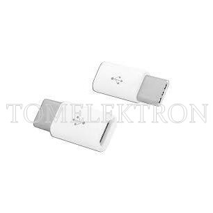 ADAPTER GNIAZDO MICRO USB-WTYK TYPE-C